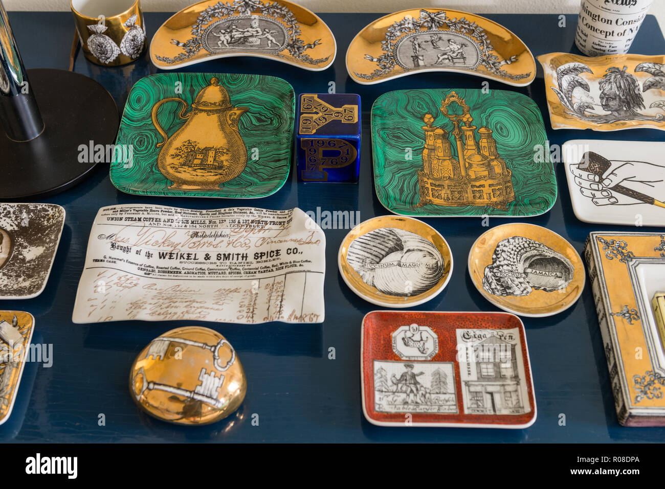 Collection of plates - Stock Image