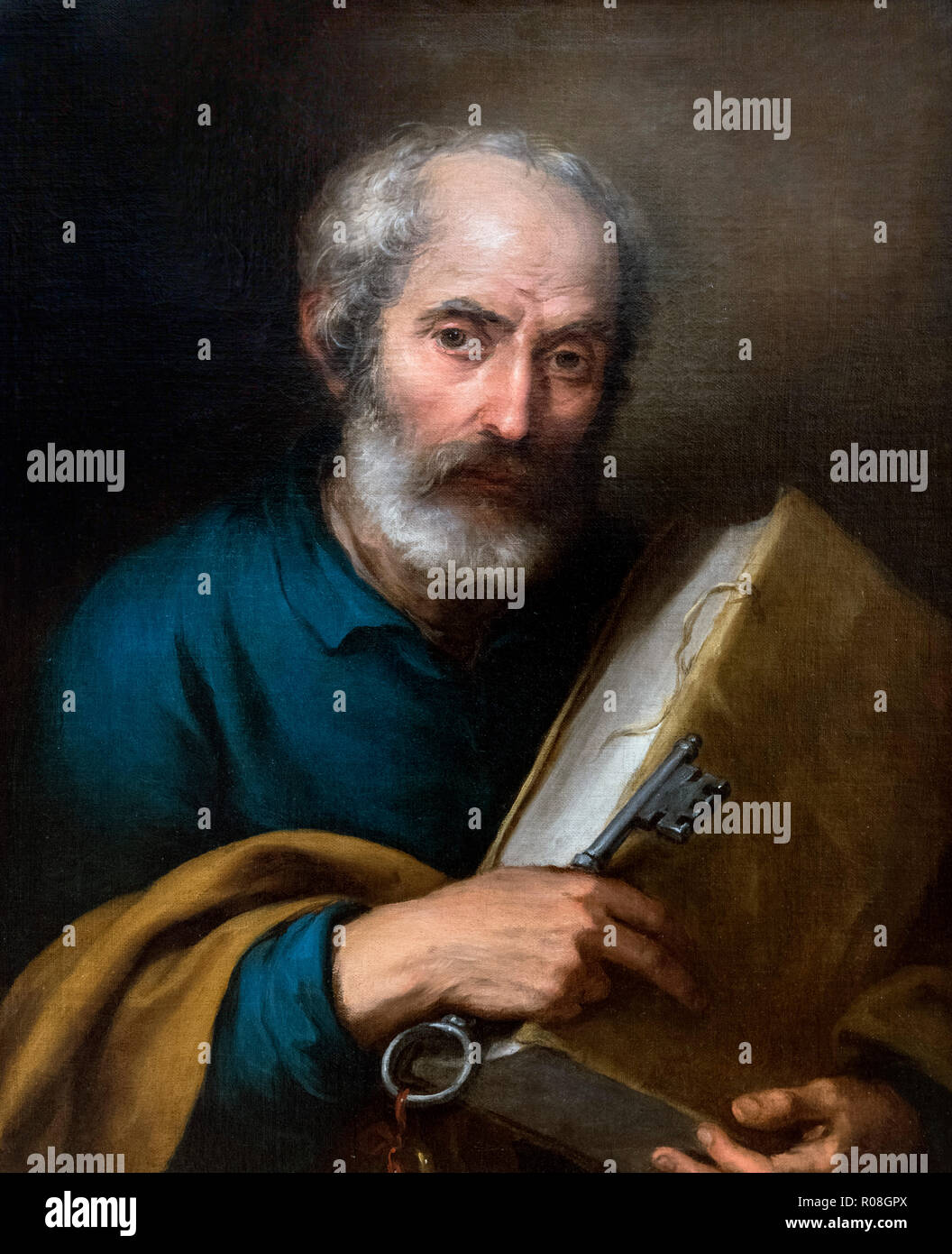 St Peter by Bartolomé-Esteban Murillo (1617-1682), oil on canvas, c.1670 - Stock Image