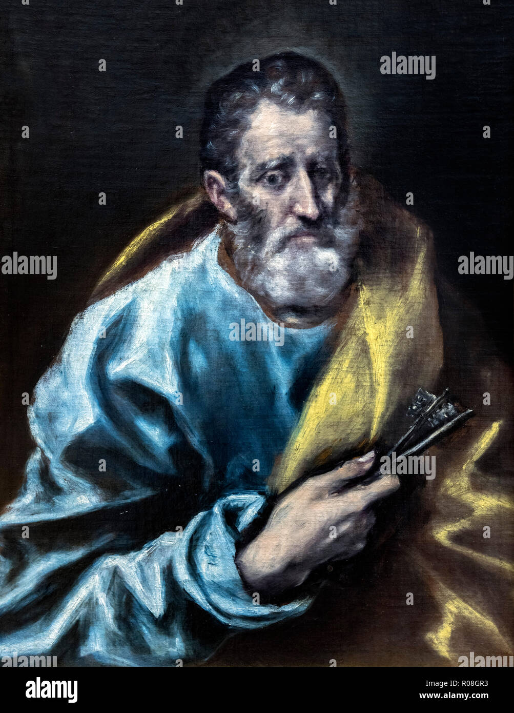 St Peter the Apostle by the workshop of El Greco (Domenikos Theotokopoulos, 1541-1614), oil on canvas, c.1608-14 - Stock Image