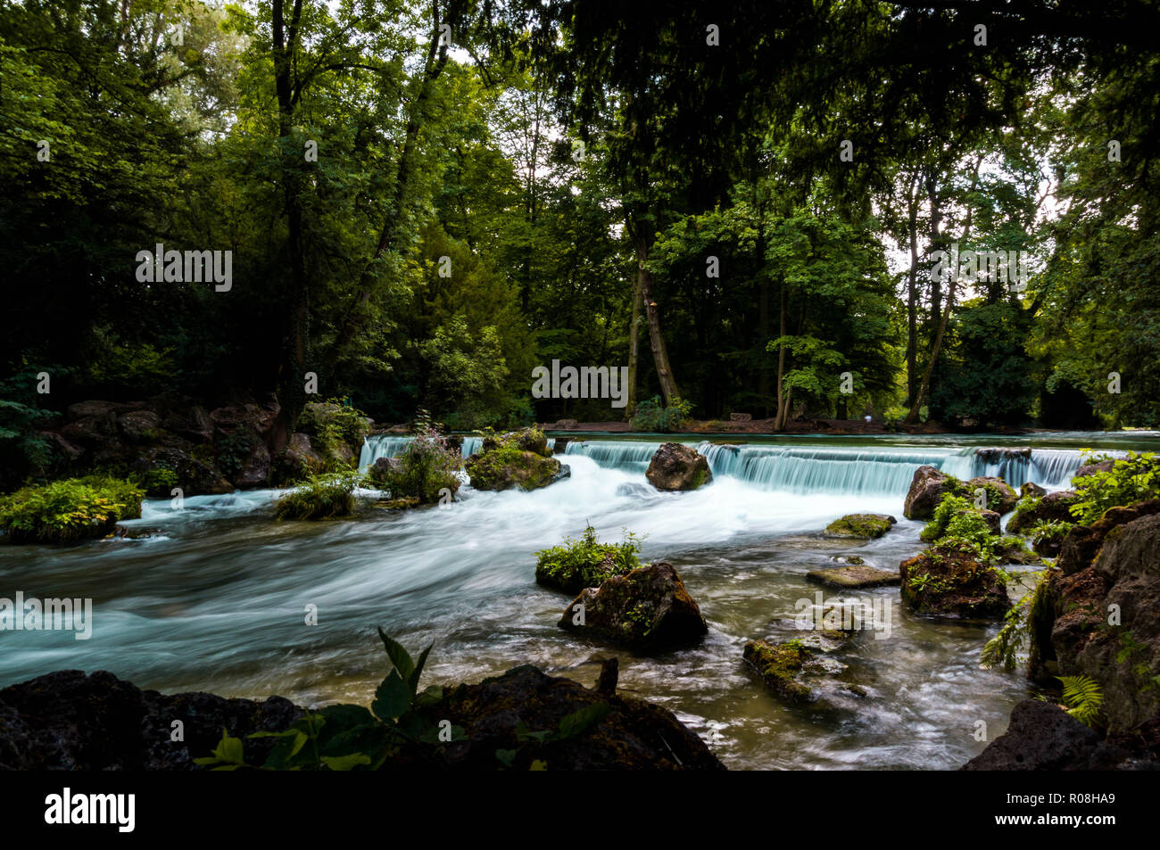River in Munich - Stock Image