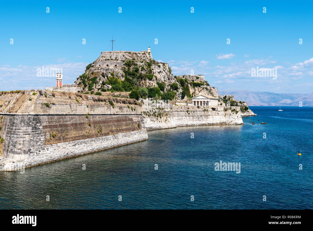 Old Fortress, Kerkyra, Corfu Island, Ionian Islands, Greece - Stock Image