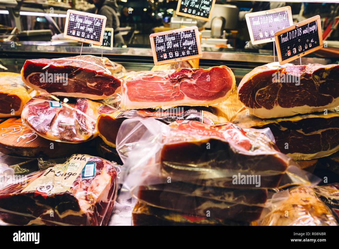 Marché des Capucins, French Market, Bordeaux, France 2017 - Stock Image