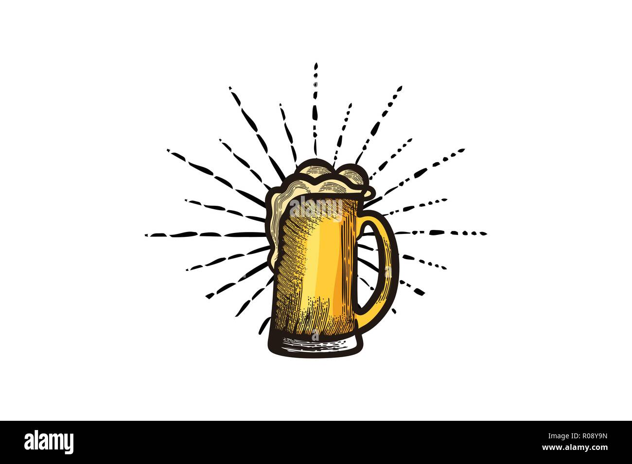 Hand Drawn Glass Of Beer Craft Beer Logo Designs Inspiration
