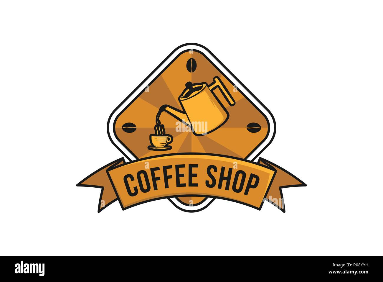 Pouring Coffee Vintage Coffee Shop Logo Designs Inspiration Isolated On White Background Stock Vector Image Art Alamy