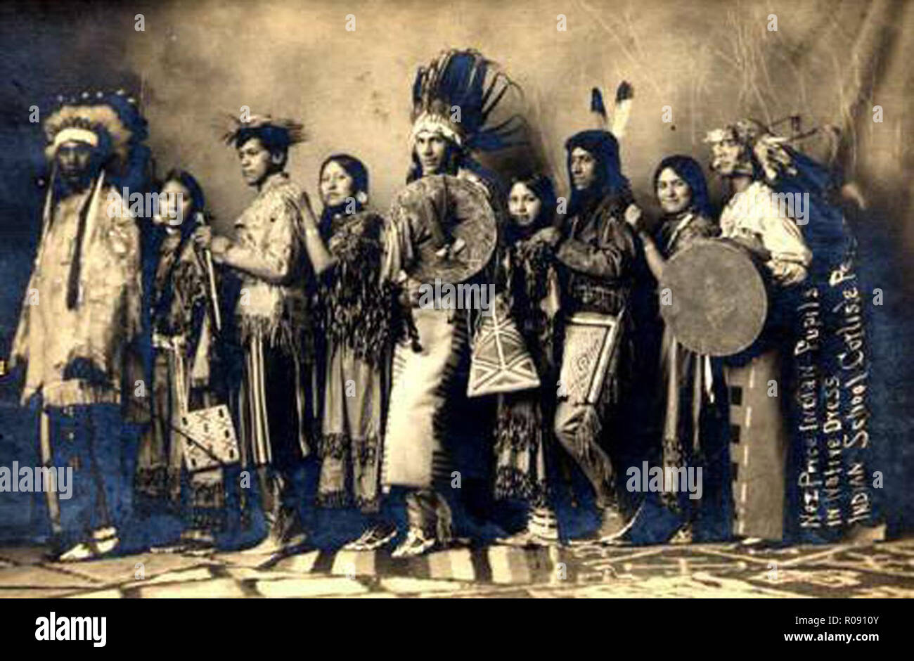 vintage photo of native americans - Stock Image