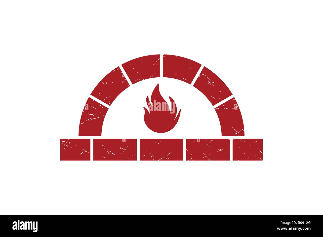 Firewood oven logo Designs Inspiration Isolated on White Background - Stock Vector