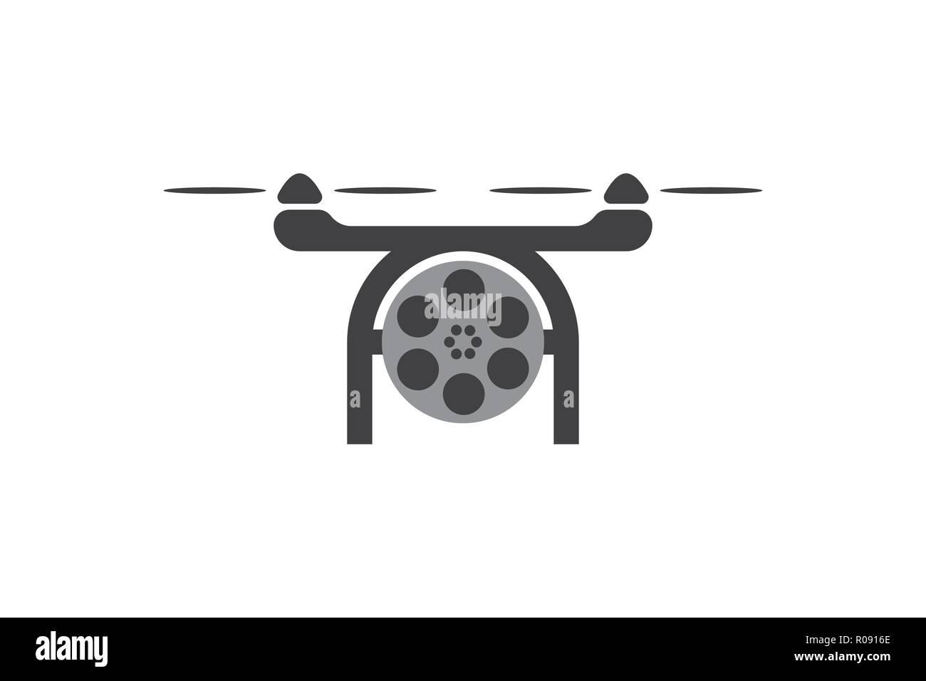 drone, photo logo Designs Inspiration Isolated on White Background - Stock Image