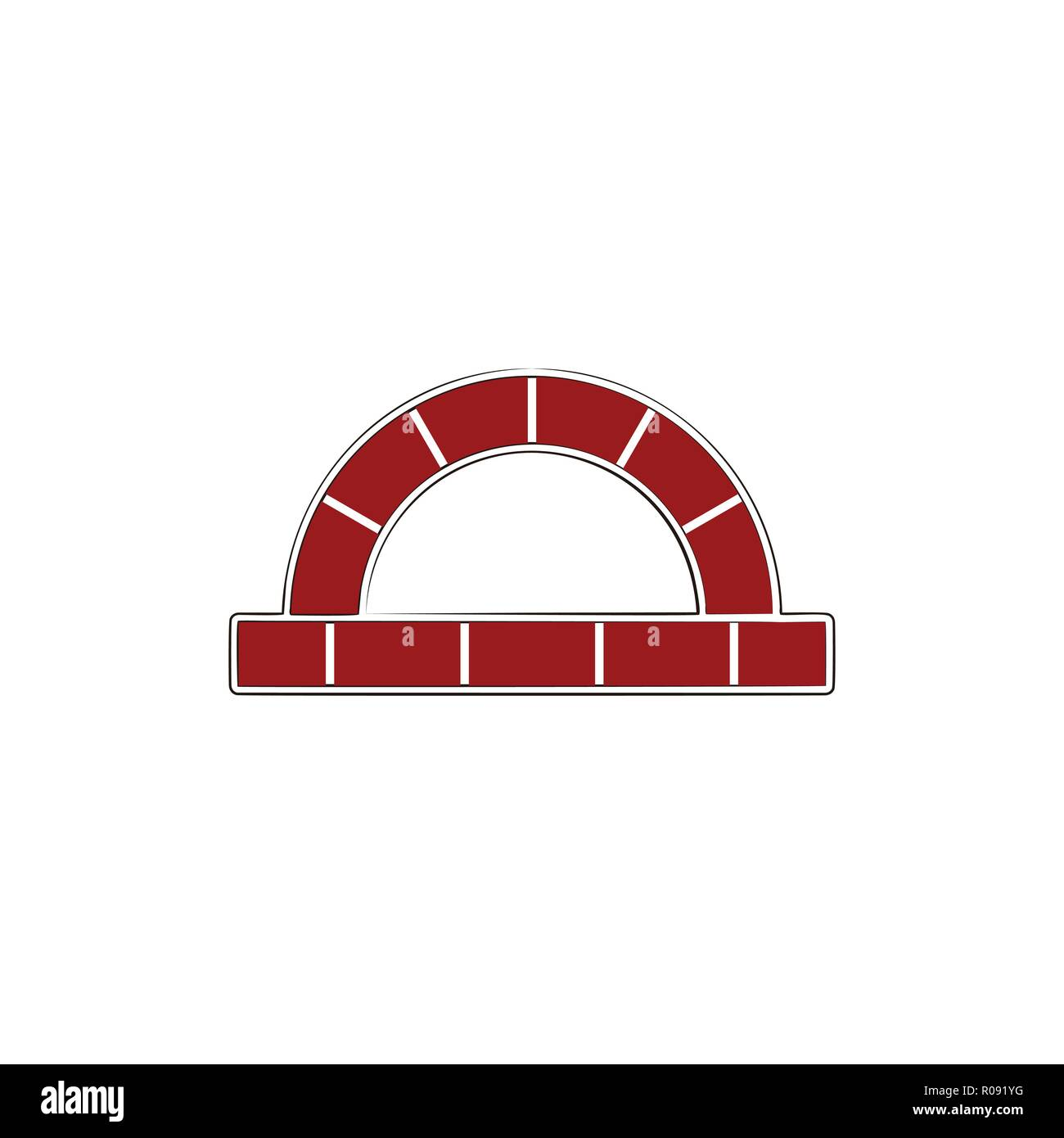 red brick, furnace logo design inspiration - Stock Vector