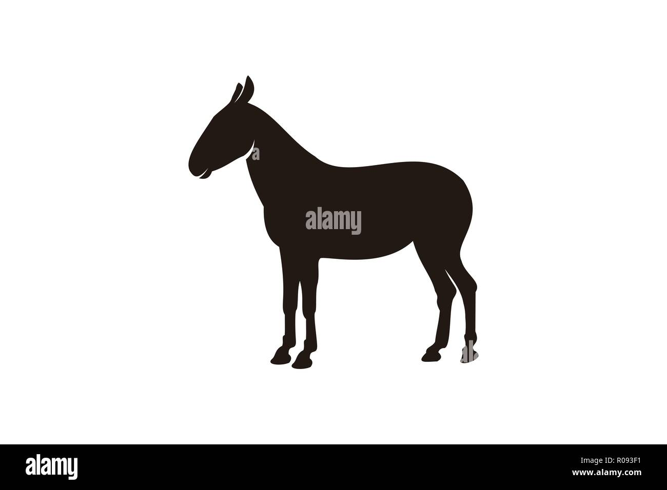 donkey, ox logo Designs Inspiration Isolated on White Background - Stock Image