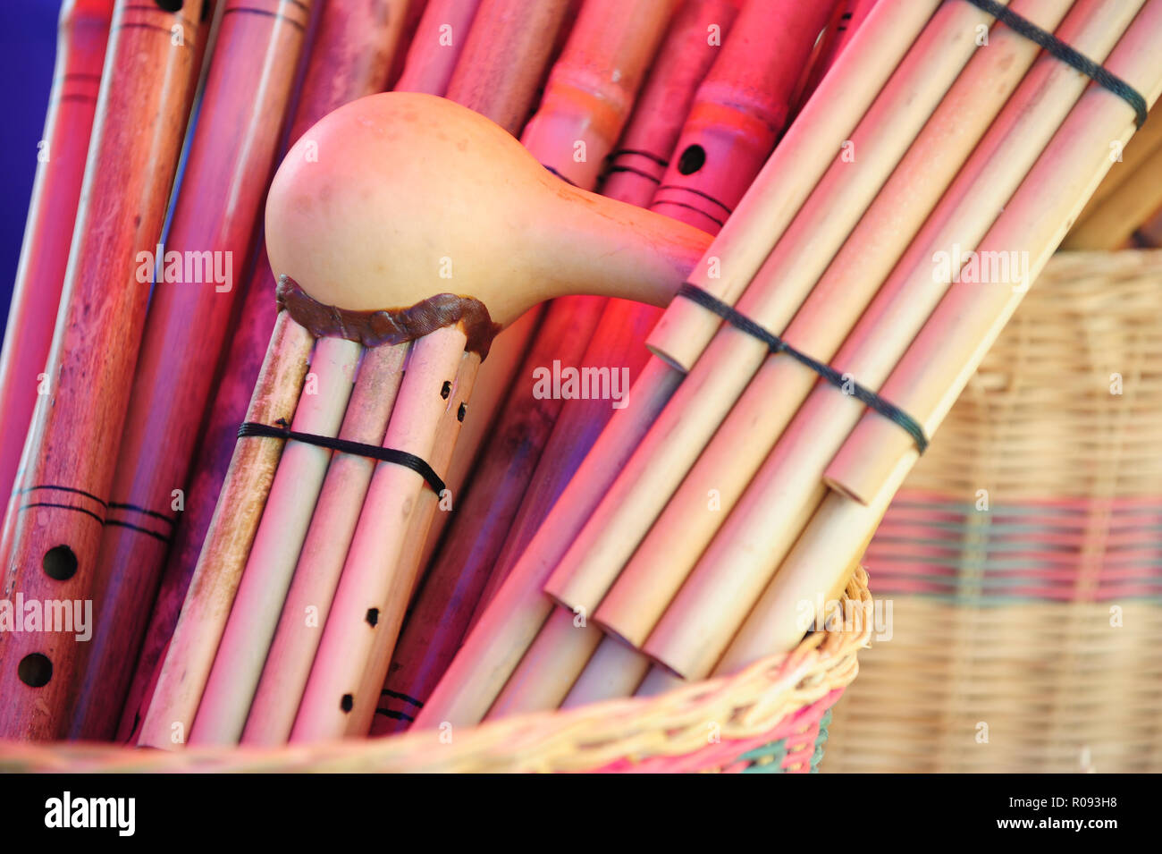 Handicraft Of Container Souviner Music Intrument Made From Rattan
