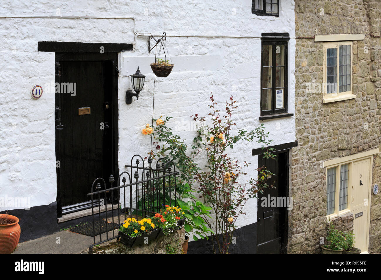 Gold Hill, Shaftesbury Town, Dorset, England, United Kingdom - Stock Image