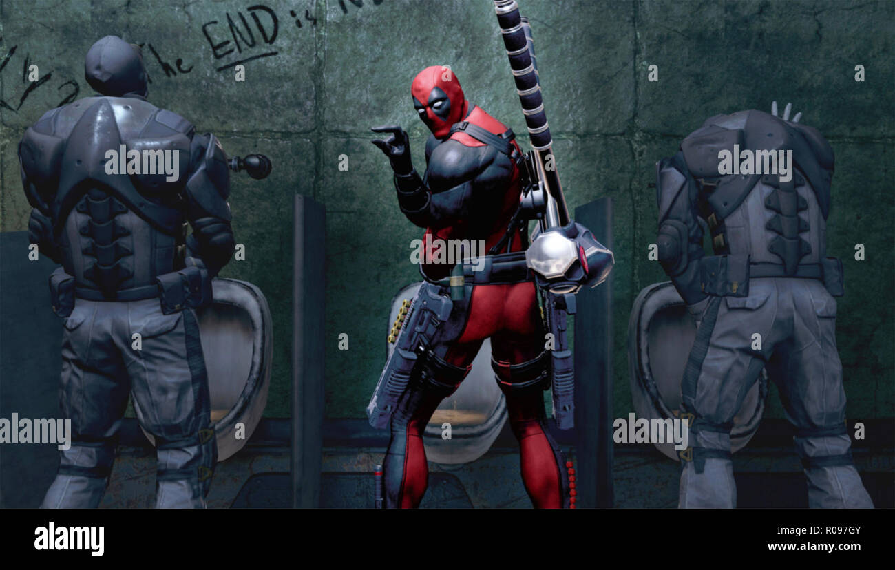 DEADPOOL 2013 Marvel Enterprises film - Stock Image