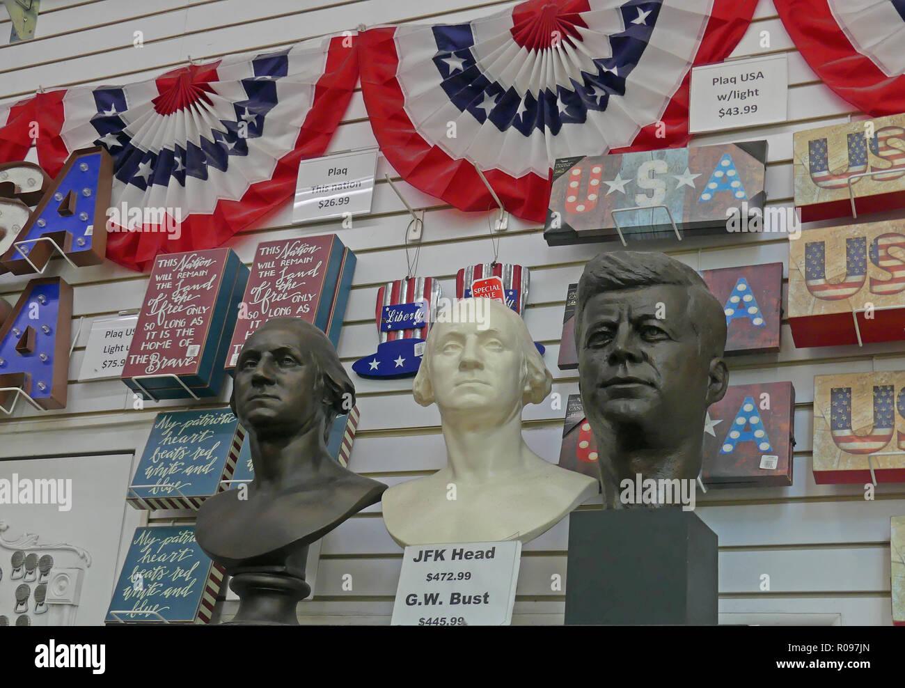 AMERICAN PRESIDENTIAL MEMORABILIA in Washington D.C. Photo: Tony Gale - Stock Image