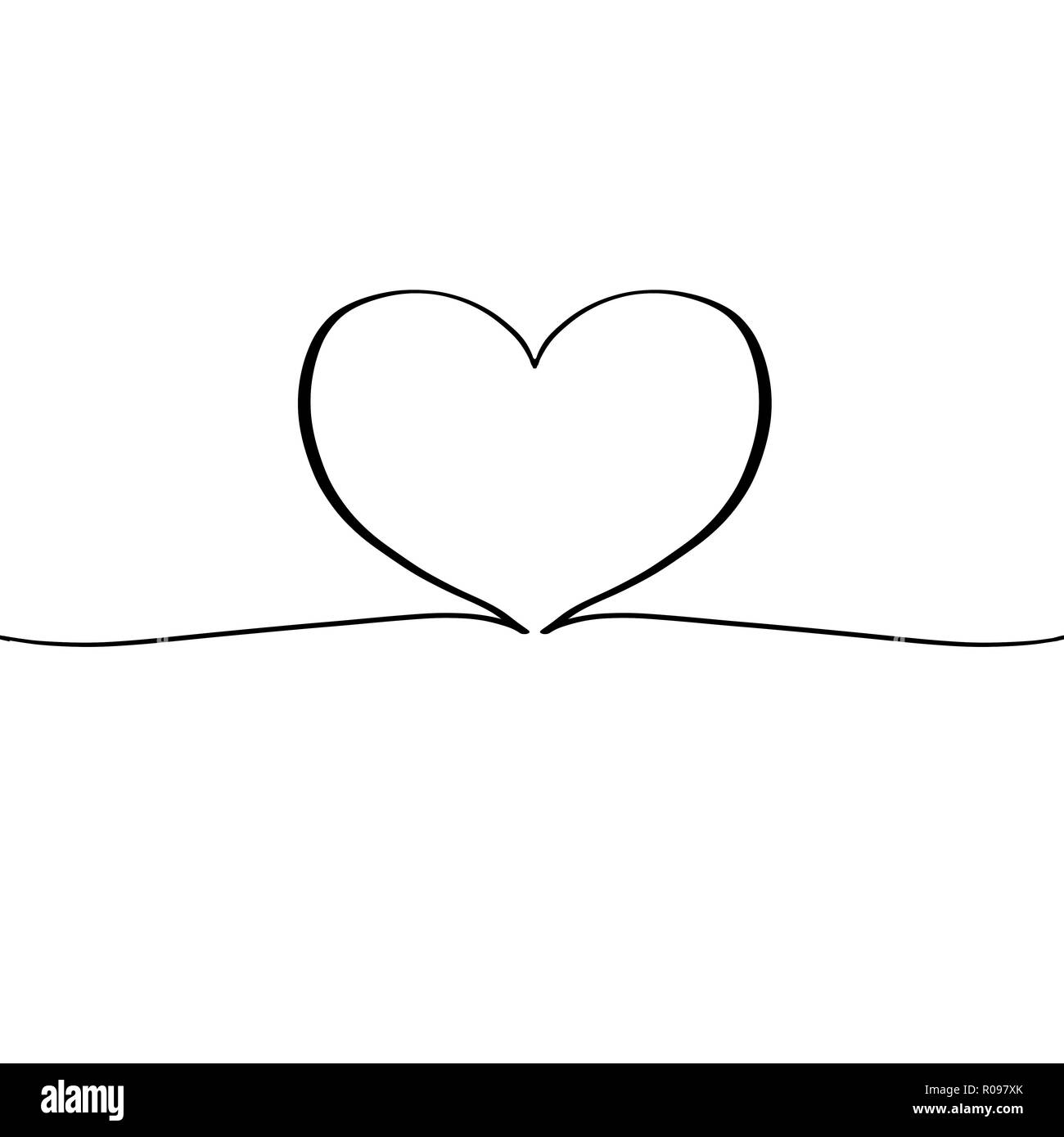 Heart With Continuous Line R Xk