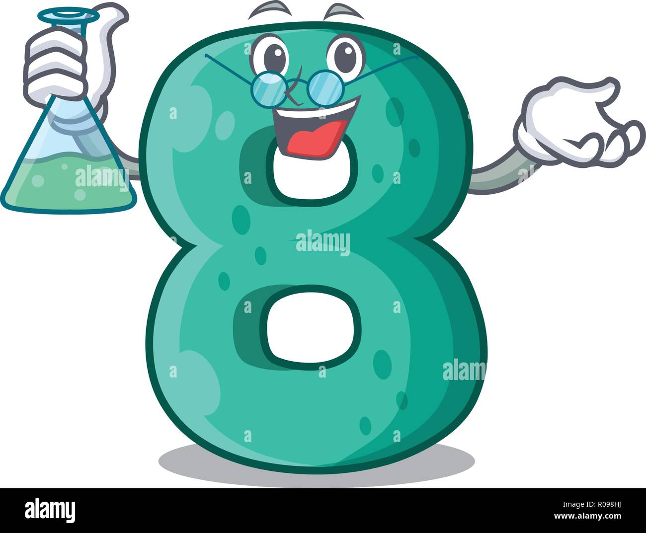 Professor number house eight the shaped character - Stock Vector