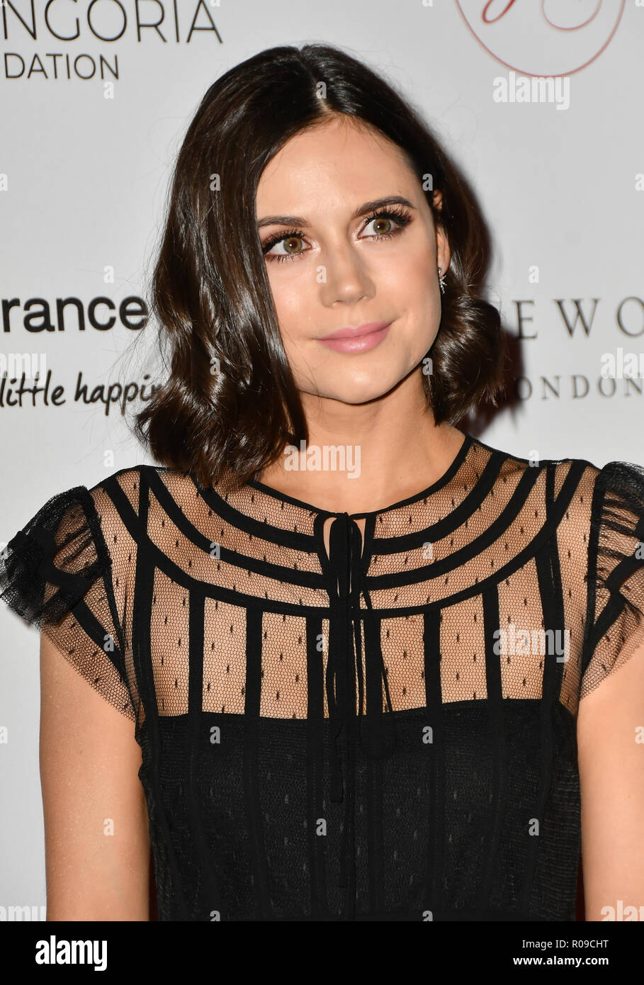 London, UK. 02nd Nov, 2018. Lilah Parsons Arrivers at The Global Gift Gala red carpet - Eva Longoria hosts annual fundraiser in aid of Rays Of Sunshine, Eva Longoria Foundation and Global Gift Foundation on 2 November 2018 at The Rosewood Hotel, London, UK. Credit: Picture Capital Credit: Picture Capital/Alamy Live News - Stock Image