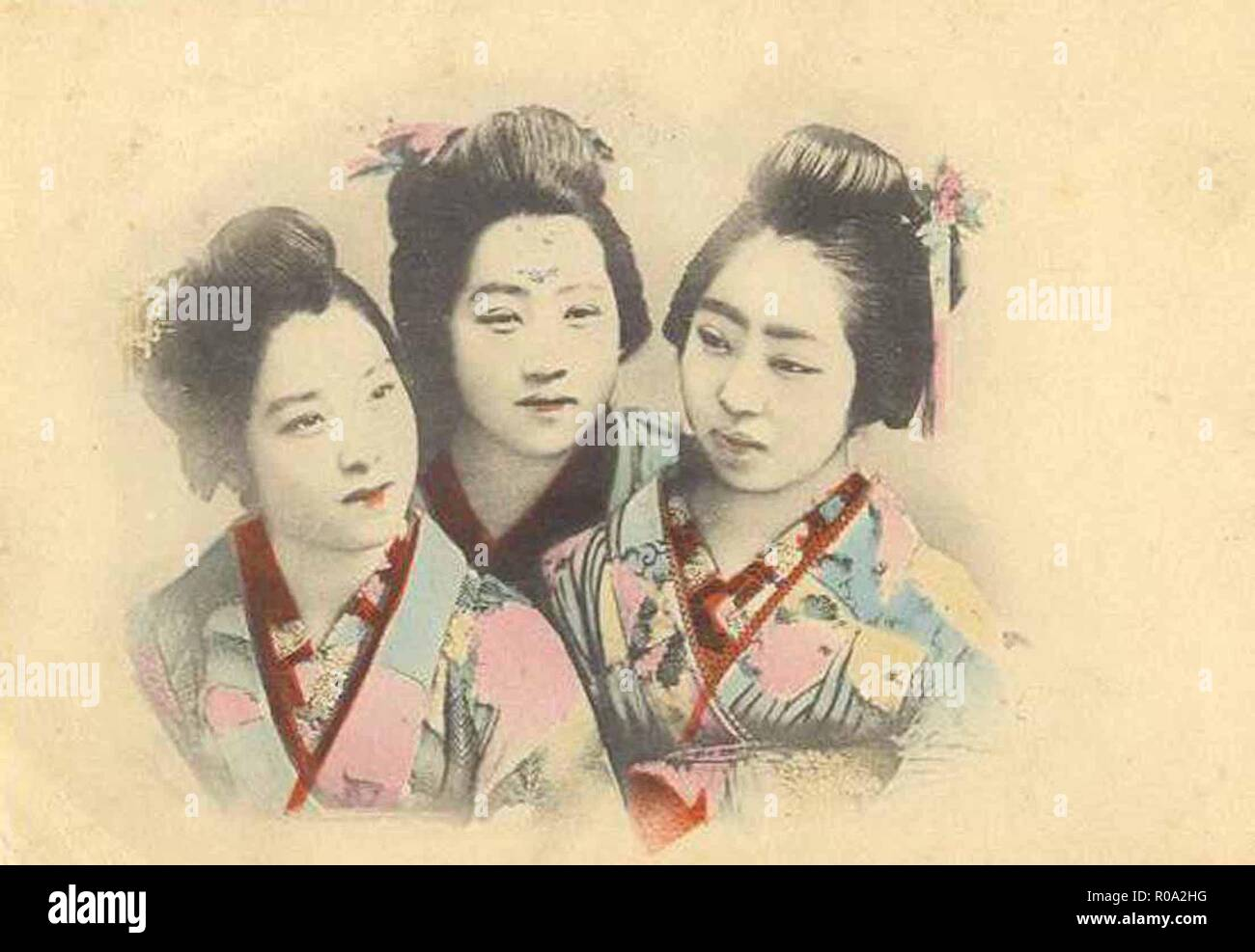 Vintage Chinese Lifestyle Illustration Stock Photo 223956364 Alamy