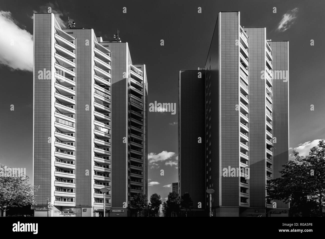 Socialist architecture, Marzahn - Stock Image