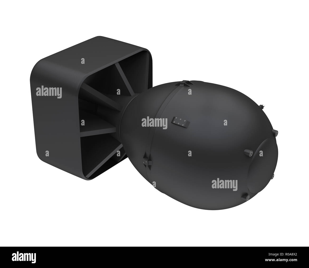 Atomic Bomb Isolated - Stock Image