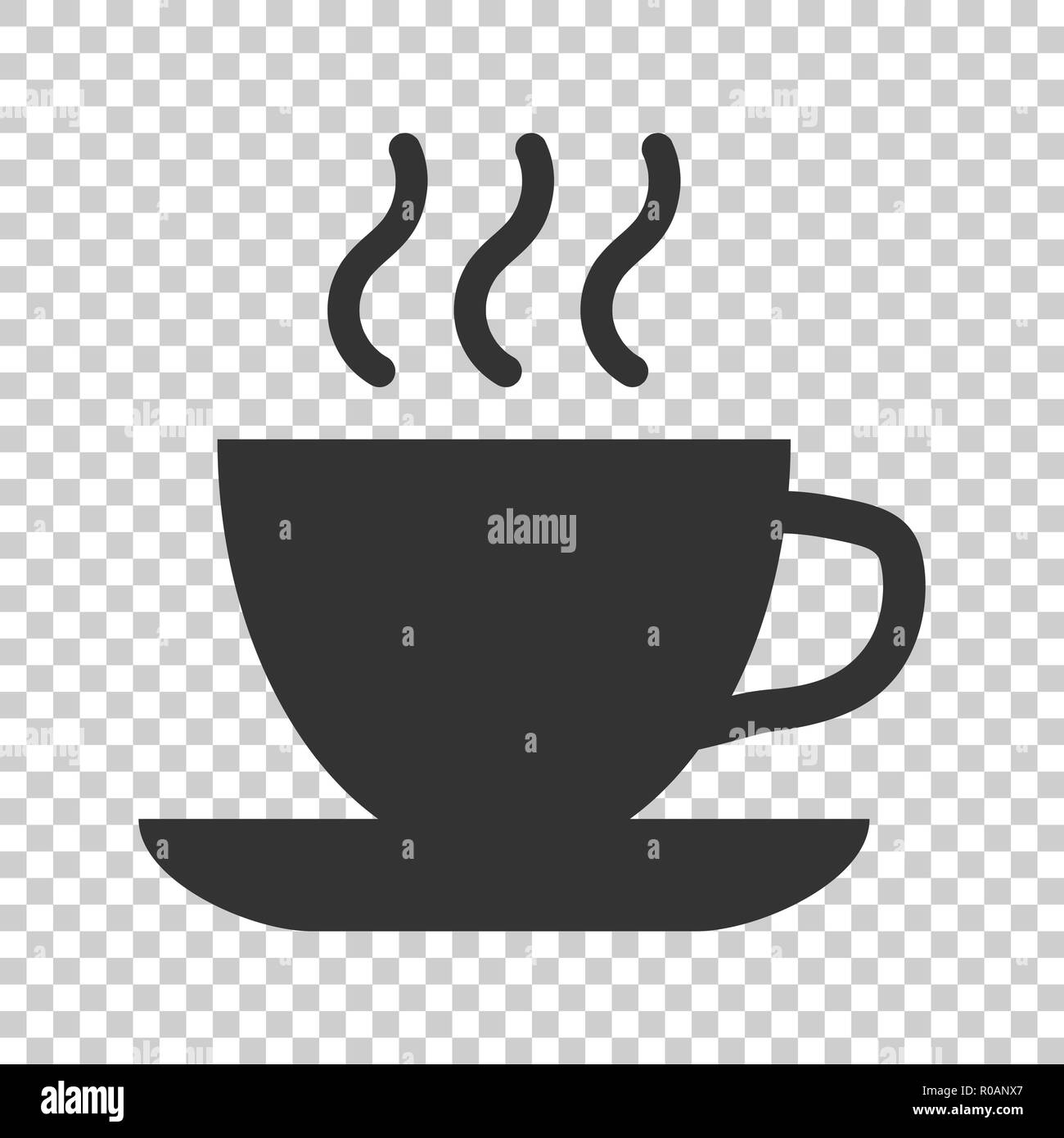 Coffee Tea Cup Icon In Flat Style Coffee Mug Vector Illustration On Isolated Background Drink Business Concept Stock Vector Image Art Alamy