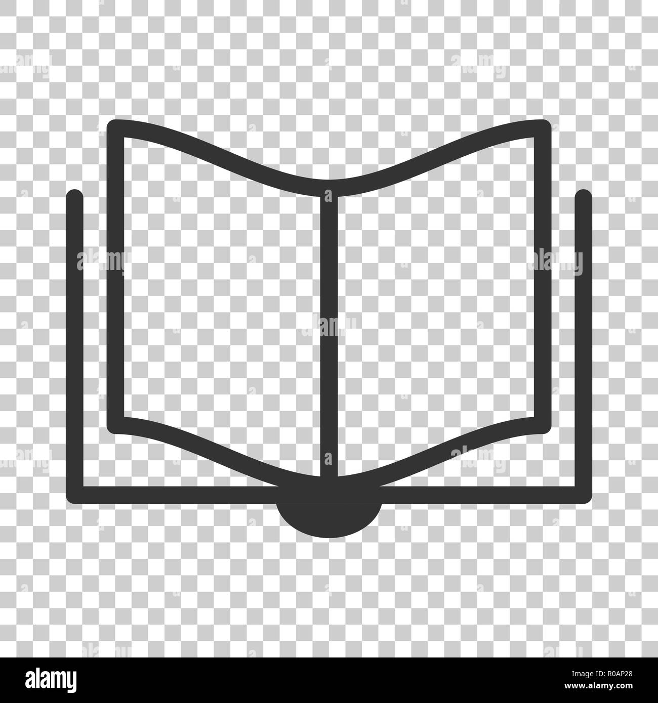 Book Education Icon In Flat Style Literature Magazine