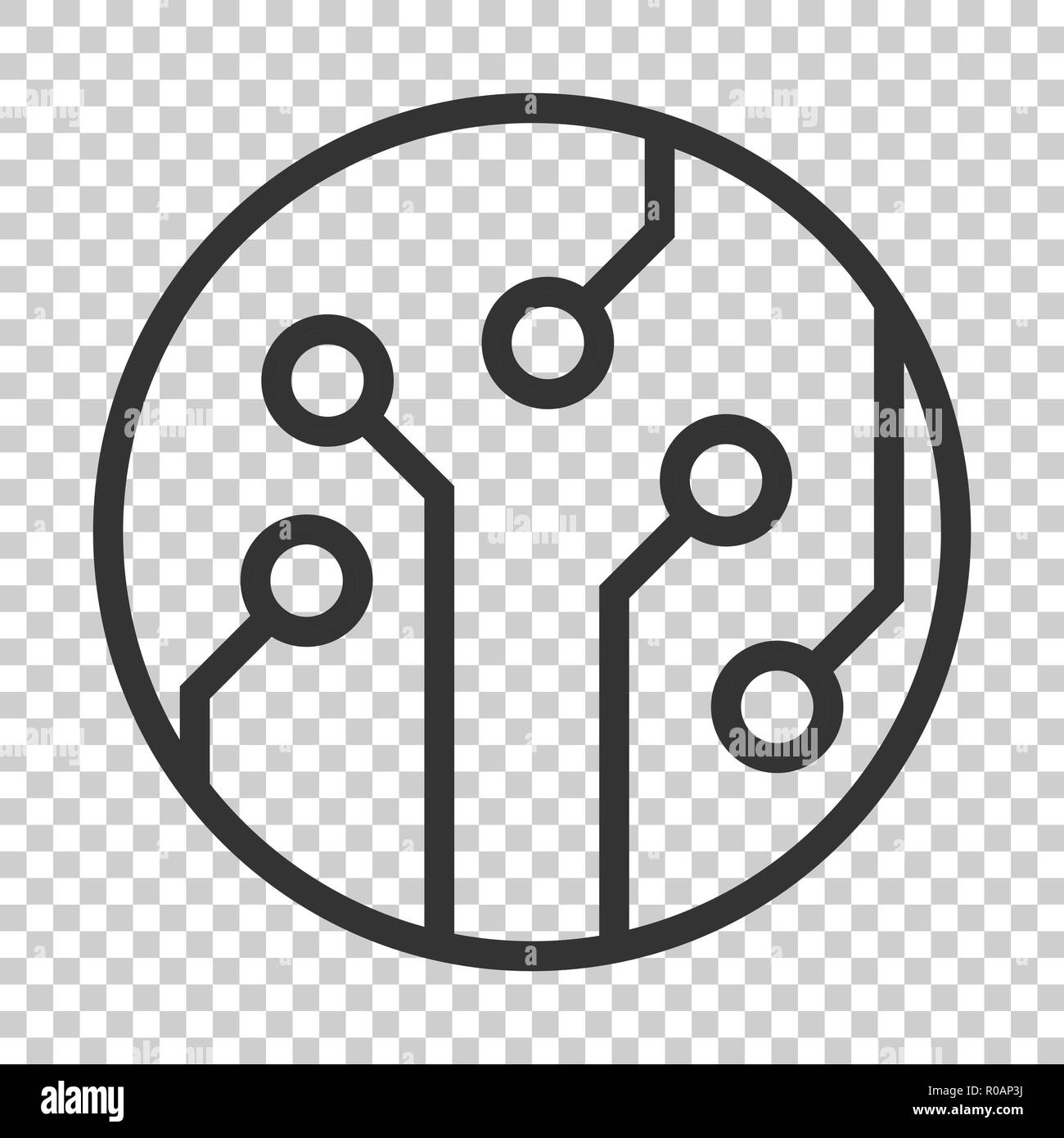 Printed Circuit Board Black And White Stock Photos Images Alamy Design Square Wall Clock Icon In Flat Style Technology Microchip Vector Illustration On Isolated Background Processor