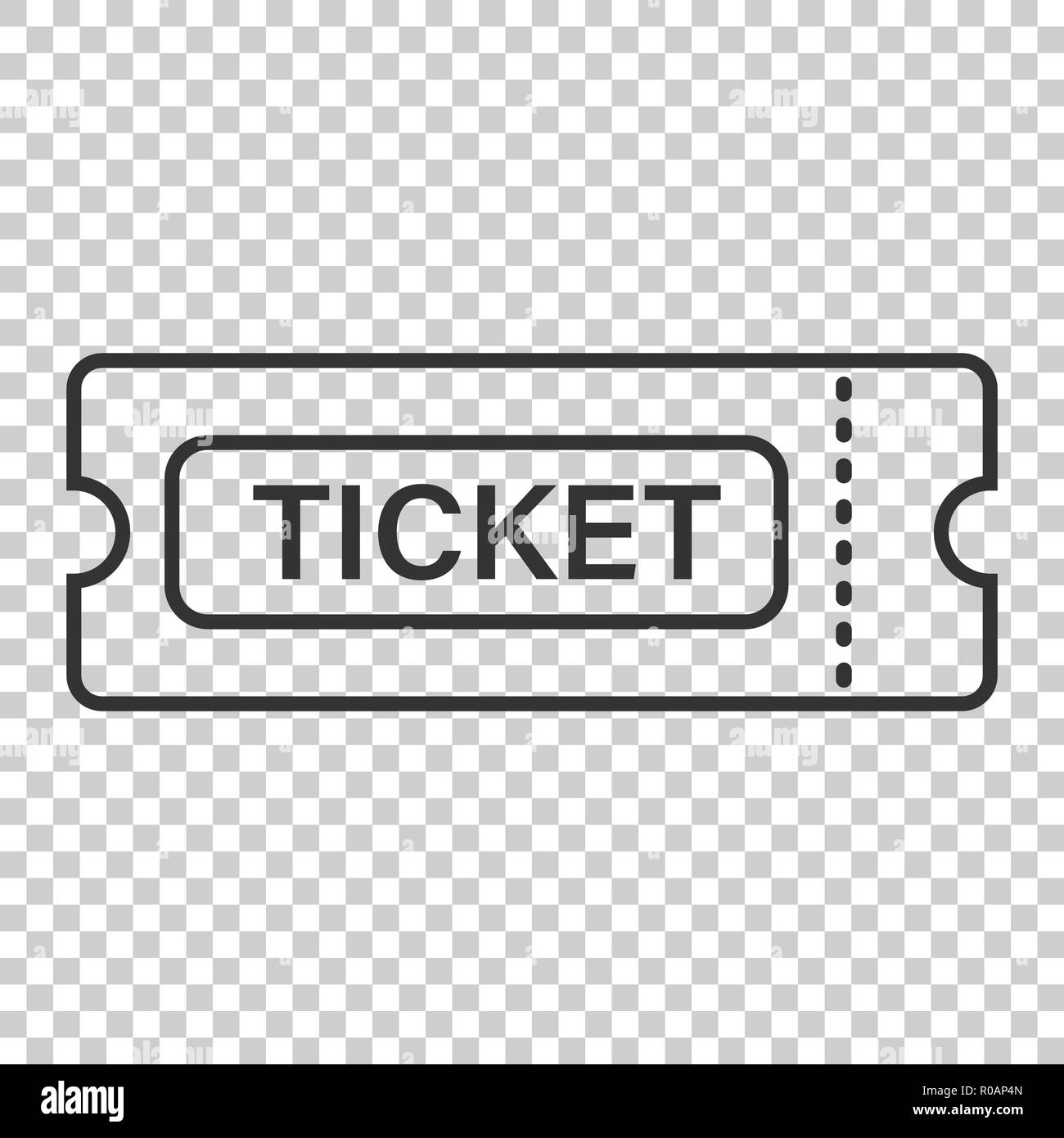 cinema ticket icon in flat style admit one coupon entrance vector