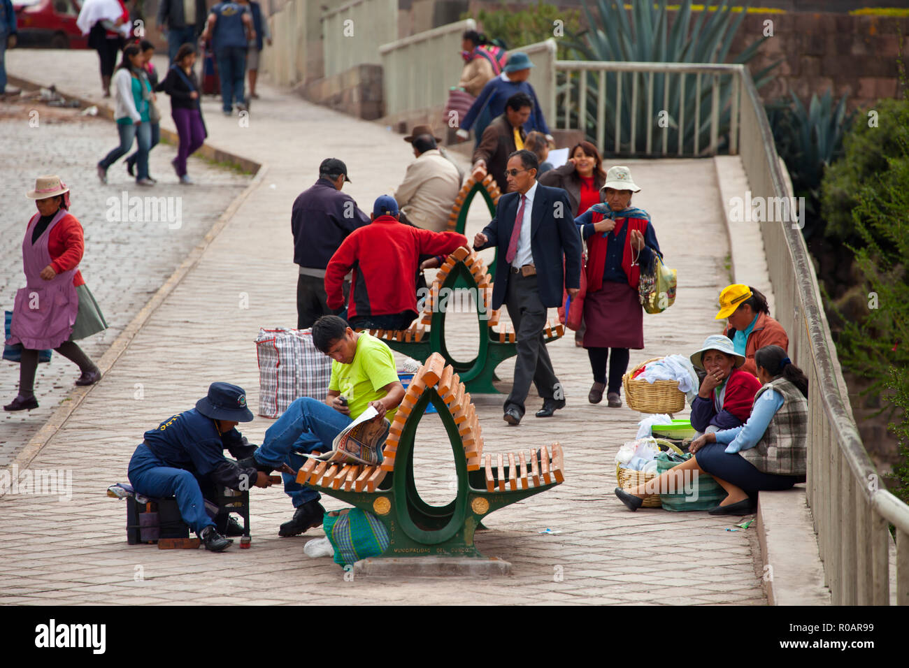An ordinary day in Cusco - Stock Image