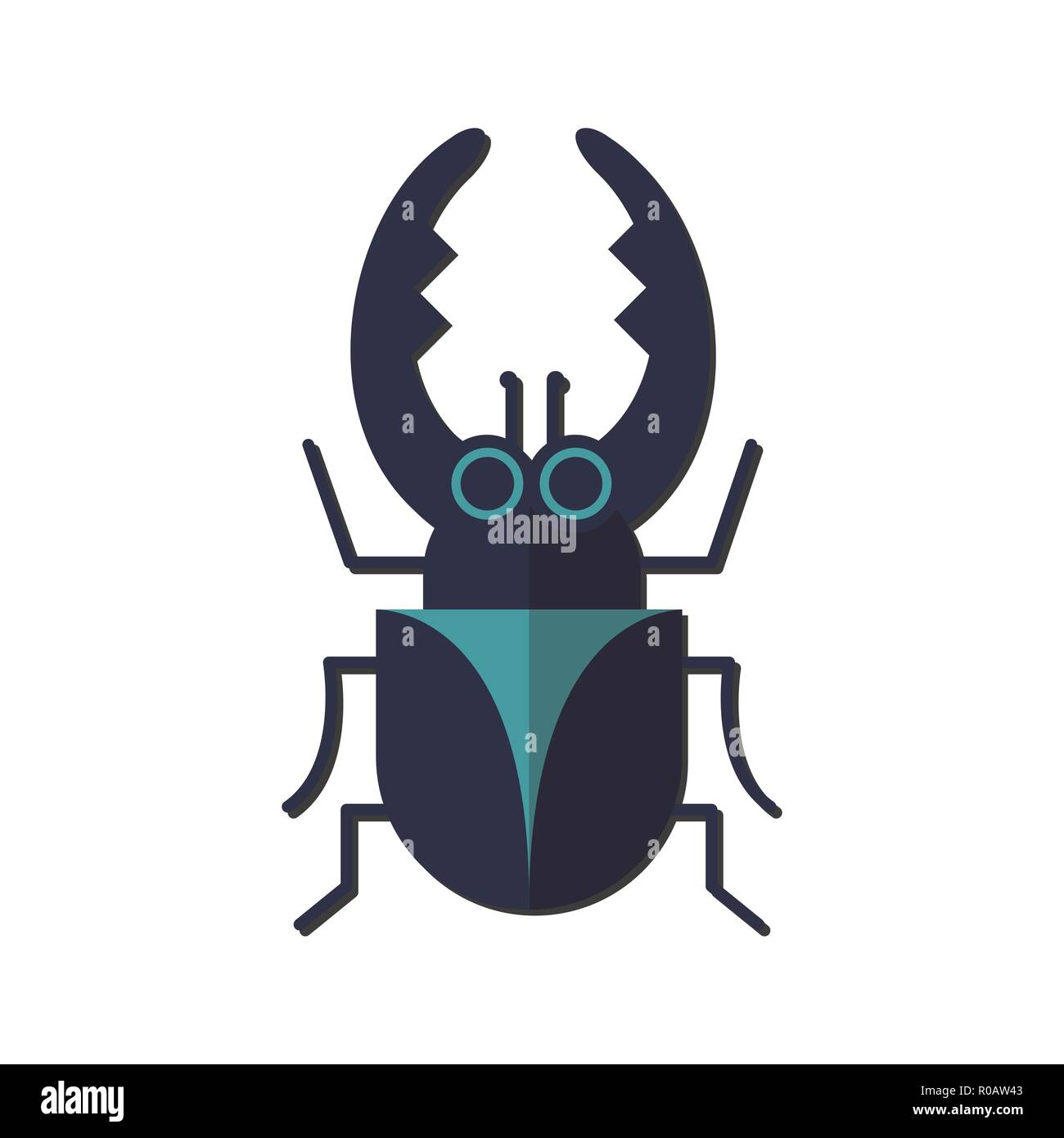 Nursery nature insect vector beetle - Stock Vector