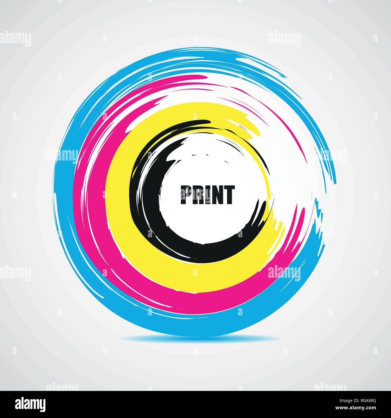 illustration of cmyk printing color circle vector EPS10 - Stock Vector