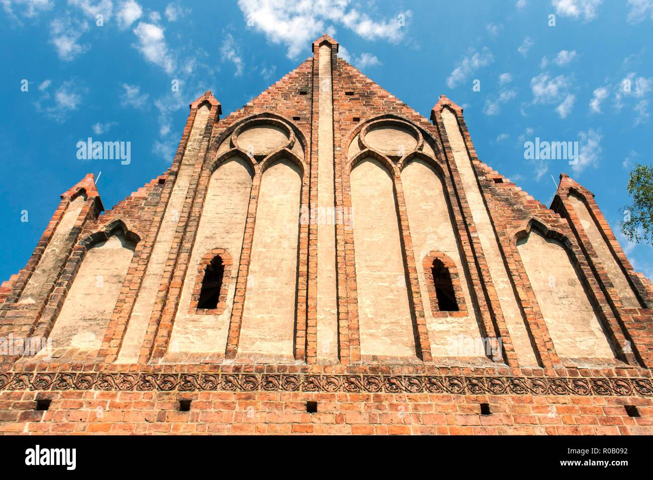 GERMANY, CHORIN,  Facade of the monastery Chorin, .It is a good example of brick Gothic typical for northern Germany - Stock Image