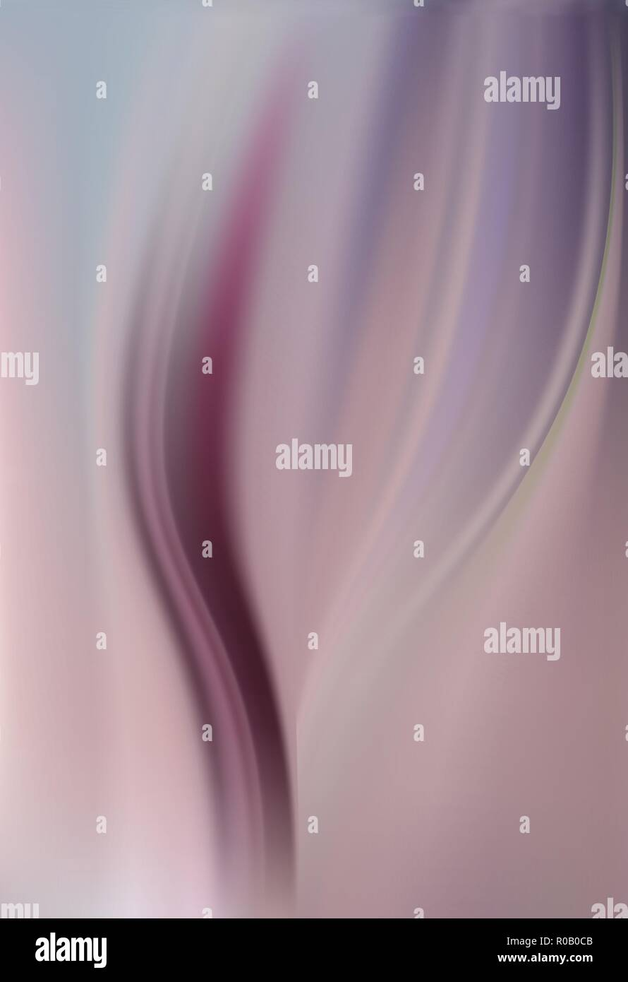Abstract satin silk background with elegant waves draping. Lilac and pink with fuchsia. Elegant purple luxury soft pleats Stock Vector