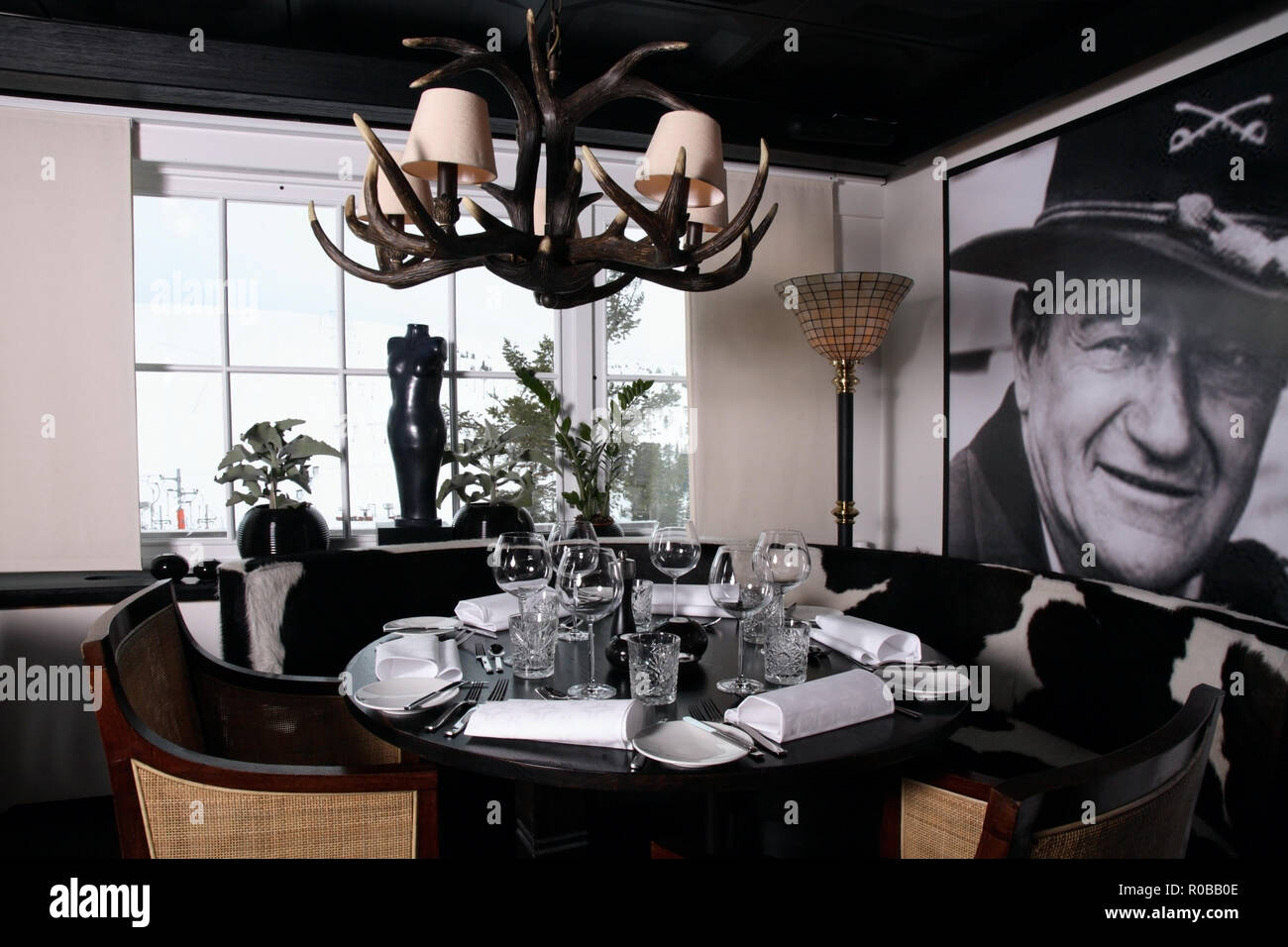 TB Grill Room restaurant at Hogfjallet ski resort. Salen. Dalarna county. Sweden - Stock Image