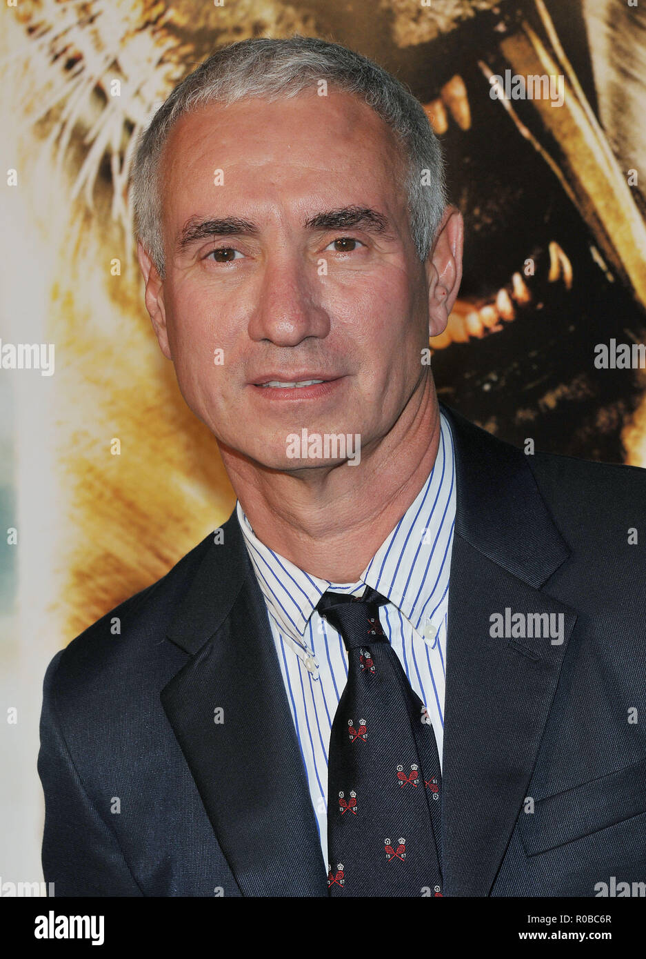 Roland Emmerich - director 10,000 BC Premiere at the Chinese Theatre In Los Angeles.  Headshot eye contact EmmerichRoland_20 Red Carpet Event, Vertical, USA, Film Industry, Celebrities,  Photography, Bestof, Arts Culture and Entertainment, Topix Celebrities fashion /  Vertical, Best of, Event in Hollywood Life - California,  Red Carpet and backstage, USA, Film Industry, Celebrities,  movie celebrities, TV celebrities, Music celebrities, Photography, Bestof, Arts Culture and Entertainment,  Topix, headshot, vertical, one person,, from the year , 2008, inquiry tsuni@Gamma-USA.com - Stock Image