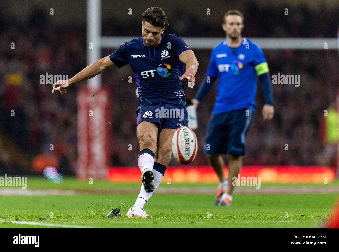 Scotlands Adam Hastings Kicks A Penalty During The Autumn Commercial Wiring Books International Match At Principality Stadium Cardiff Press Association Photo