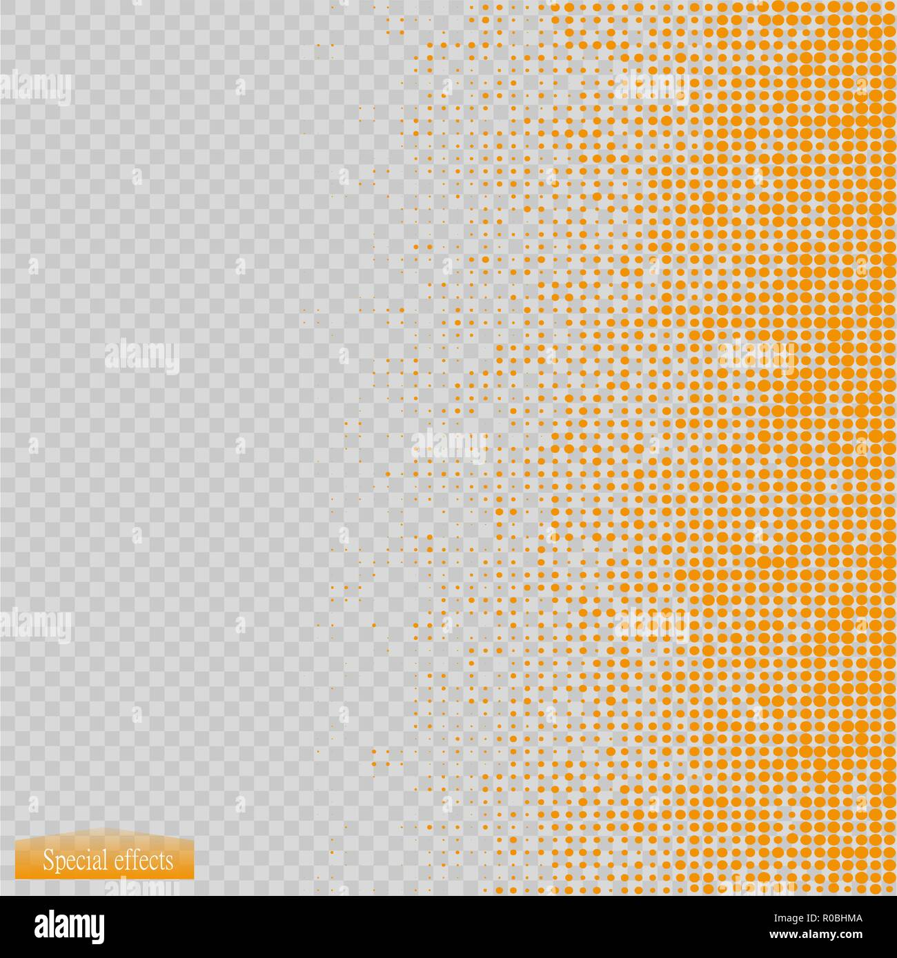 Halftone pattern vector.blue the circles to the background squares - Stock Image