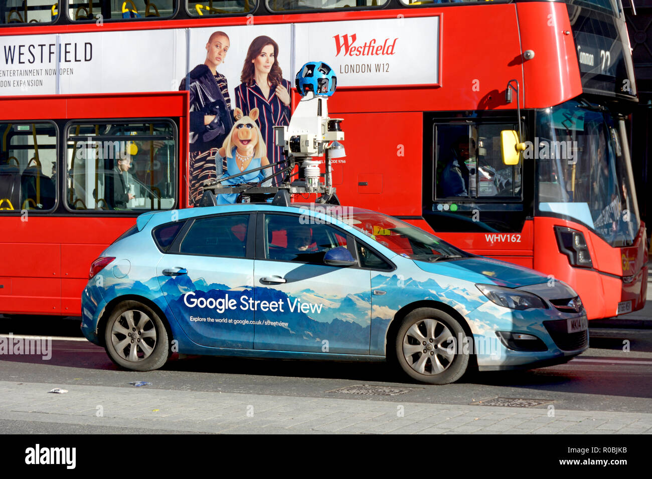 Google Street View camera car in Regent Street, London, England, UK. - Stock Image