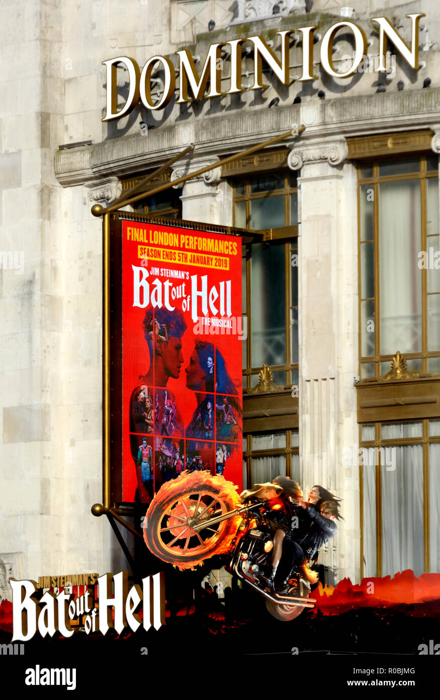 Bat out of Hell (Meatloaf) at the Dominion Theatre, London, England, UK. November 2018 - Stock Image