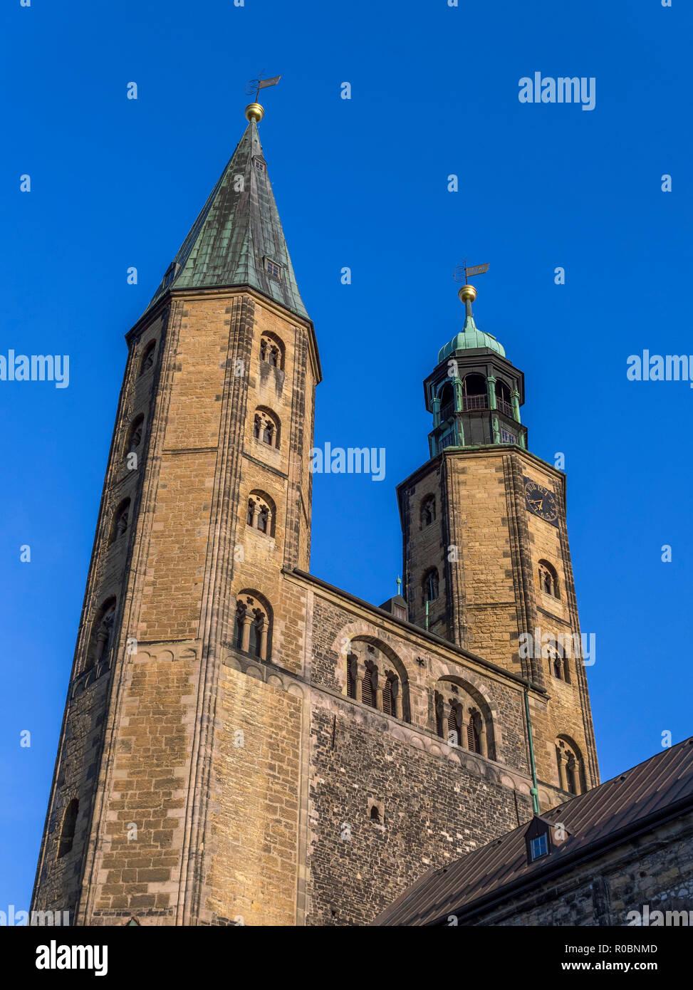 Market Church St. Cosmas and Damian, Historic City in Goslar, UNESCO World Heritage Site, Goslar, Harz, Lower Saxony, Germany, Europe - Stock Image