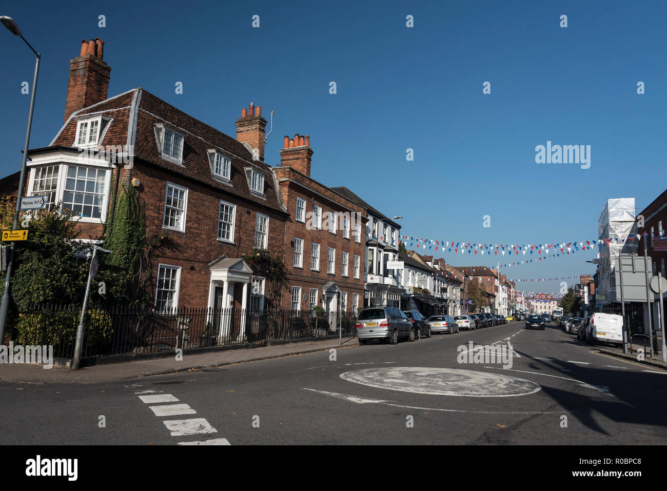 High street at Marlow in Buckinghamshire, Britain Stock Photo