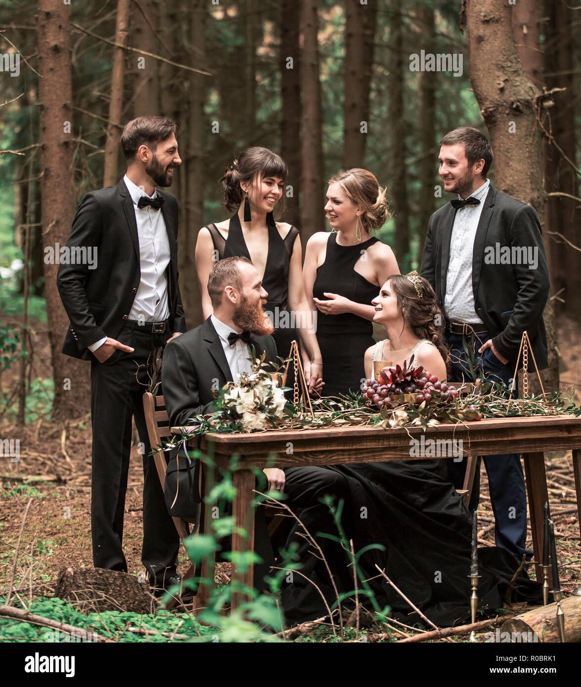 Unique Wedding Ideas Ceremony In The Woods: Unusual Wedding Ceremony Stock Photos & Unusual Wedding