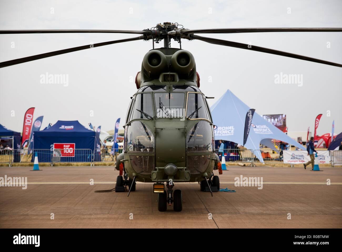 RAF Puma HC.2 at the 2018 Royal International Air Tattoo - Stock Image