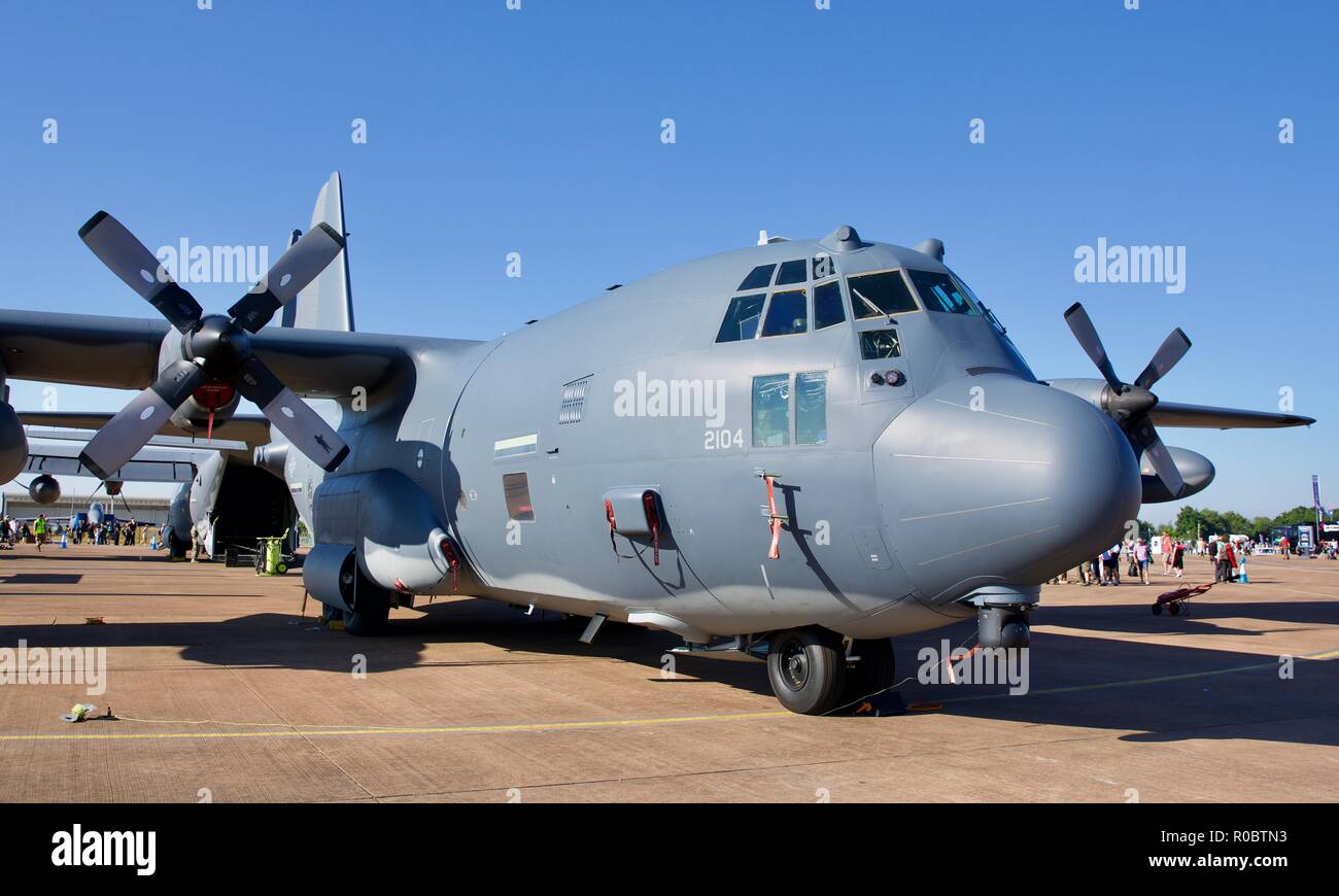 US Air Force HC-130P/N Combat King on static display at the 2018 Royal International Air Tattoo - Stock Image