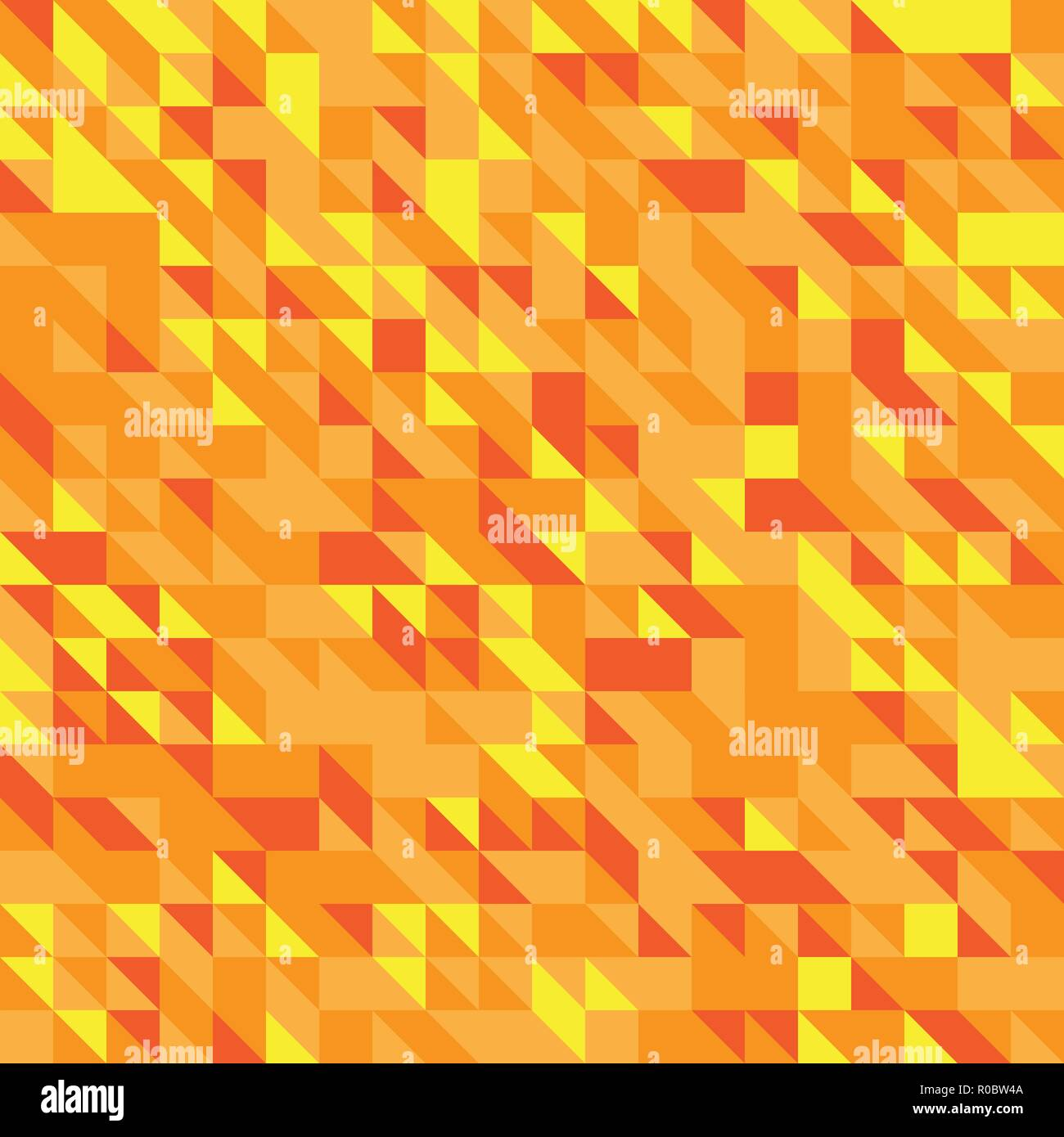 Vector Illustration Of A Seamless Pattern Of Simple Triangles In Different Shades Of Yellow Orange Red Colors Stock Vector Image Art Alamy