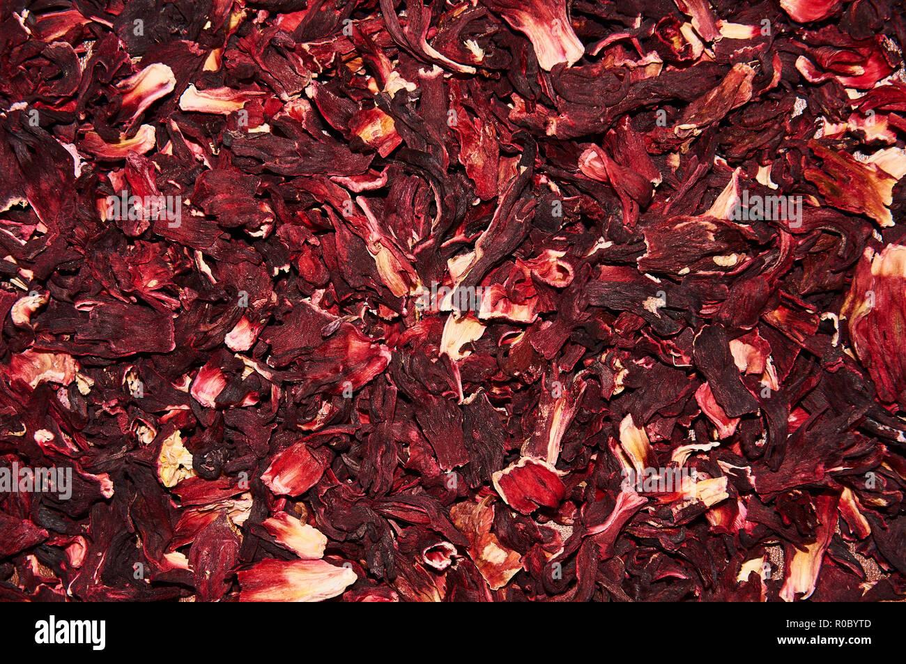 Hibiscus tea on a white background. - Stock Image