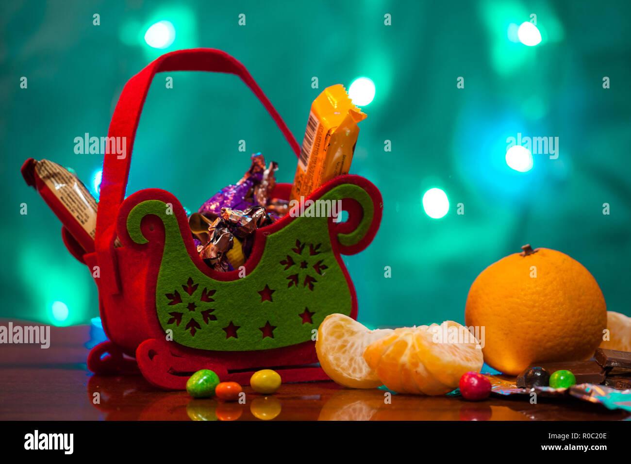 Candy Christmas Sleigh Of Surprises Christmas Holiday Gift Basket