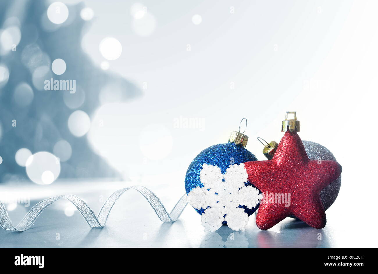 Christmas Holiday Background.Christmas Holiday Background Decorated With Baubles Light