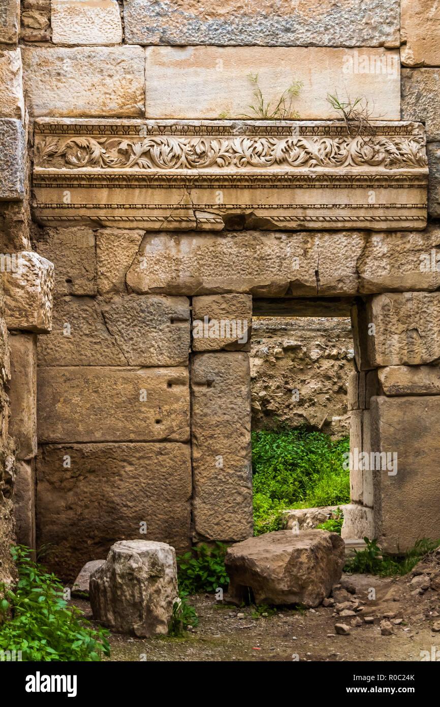 Iznik, Turkey, May 10, 2012: Lefkey Gate, part of İznik's Roman-Byzantine fortifications. - Stock Image