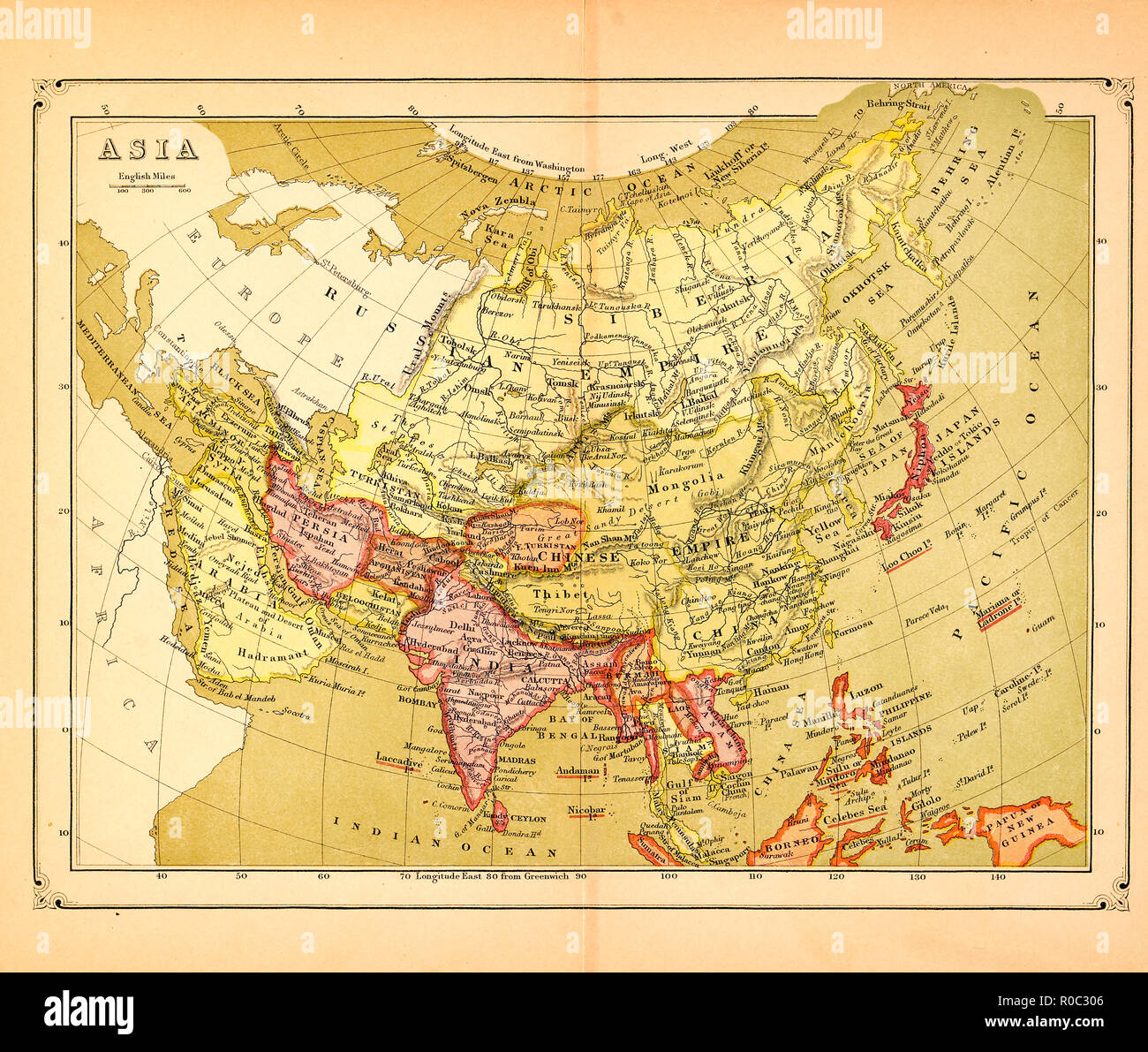 Map Of Asia And Pacific.Historical Asia Pacific Map Stock Photos Historical Asia Pacific