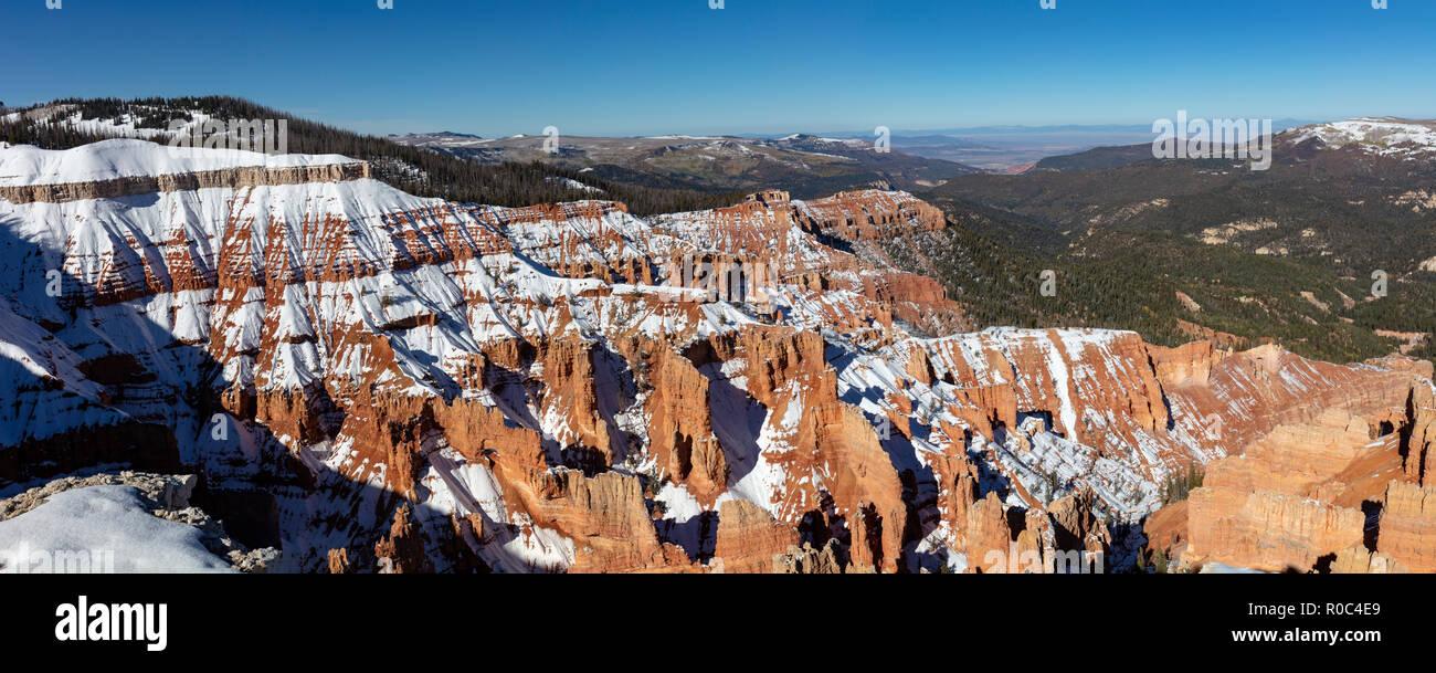 Cedar Breaks National Monument in Winter, Utah - Stock Image